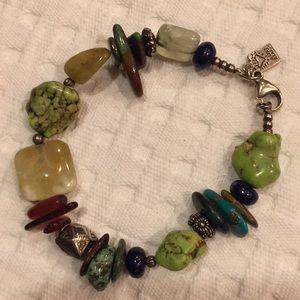 Jewelry - Ladies 8 inch multiple bead bracelet
